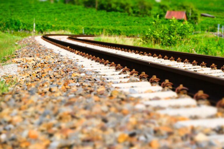railway, railway rails, rails